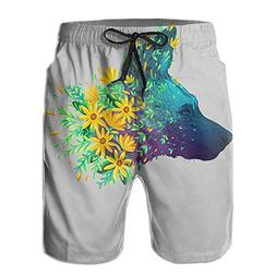 Men's Endangered Species Series Wolf Swim Trunks Beach Short