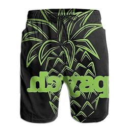 Liveupon Men Psych Pineapple Summer Quick Dry Beach Surfing