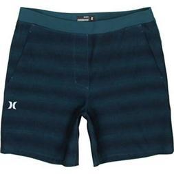 "Hurley Men's 18.5"" Active Fit Blue Hybrid Shorts Boardshorts"