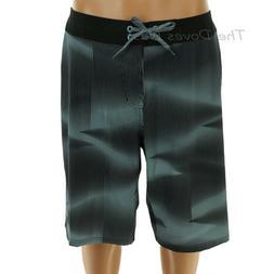 NIKE Men's 36 GREEN & BLACK BOARD SHORTS Swim YELLOW SWOOSH