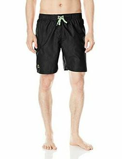 RBX Men's 7 Inch Volley Swim Short, Black, Large