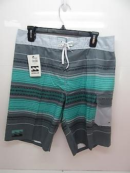 Men's Billabong All Day Parallel Board Shorts Neo Mint Size