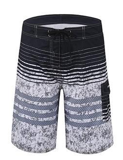 Unitop Men's Bathing Shorts Summer Holiday Striped Surf Trun