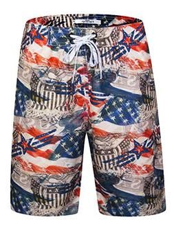 Men's Bathing Suit Quick Dry Boardshorts with Cargo Pocket A