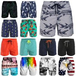 Men's Beach Board Shorts Swim Trunks Quick Dry Surf Pants Sw