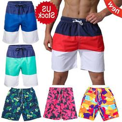 Men's Beach Surf Board Shorts Quick-Dry Swim Trunks Casual S