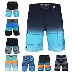 Men's Beach Vacation Fast Dry Zip Pocket Swimwear Board Shor