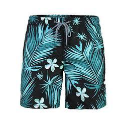 Men's Beach Vacation Swimming Swim Trunks Pocket Swimwear Bo