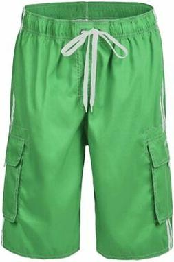 Nonwe Men's Beachwear Board Shorts Quick Dry with Mesh Linin