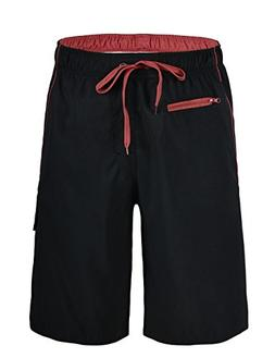 Nonwe Men's Beachwear Board Shorts Quick Dry Zipper Pockets