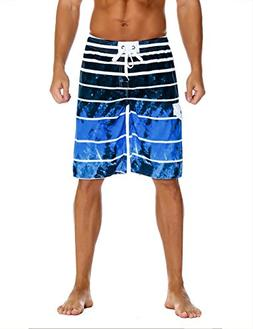 Nonwe Men's Beachwear Quick Dry Holiday Drawstring Striped S