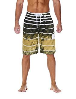 Nonwe Men's Beachwear Quick Dry Holiday Drawstring Striped B