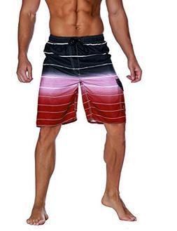 Nonwe Men's Beachwear Quick Dry Holiday Drawstring Striped B