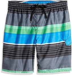 Kanu Surf Men's Big Viper Extended Size Stripe Swim Trunk, B