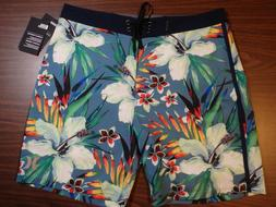 Hurley Men's Board Shorts - 18 inch Length - Blue floral pat