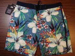 Hurley Men's Board Shorts - 18 inch Length - Blue floral pat