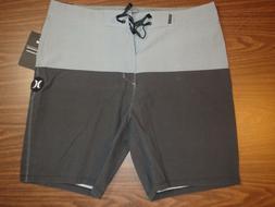 Hurley Men's Board Shorts - 18 inch Length - Black/Gray patt