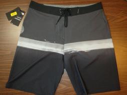 Hurley Men's Board Shorts - 20 inch Length - Gray/Black patt