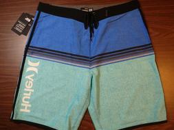 Hurley Men's Board Shorts - 20 inch Length - Blue Stripe Pat