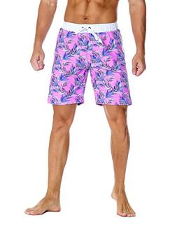 Nonwe Men's Board Shorts Printed Quick Dry Drawsting with 3