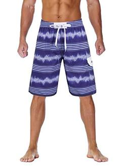 32170e3104 Nonwe Men's Board Shorts Quick Dry Holiday Drawstring Swimmi