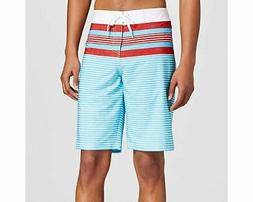 men s board shorts red white