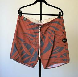 RVCA Men's Boardshorts Trunks Nature Brown Black Size 36 New