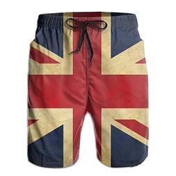 Fimaliy Men's British Flag Retro Quick Dry Summer Beach Surf