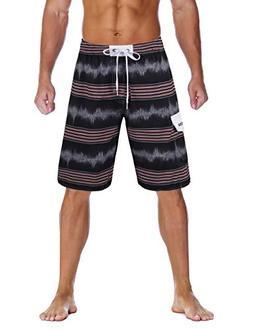 Unitop Men's Colortful Beach American Board Shorts with Lini
