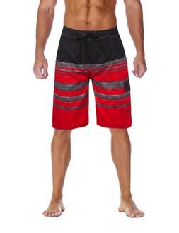 Unitop Men's Colortful Swim Trunks House Beach Board Shorts