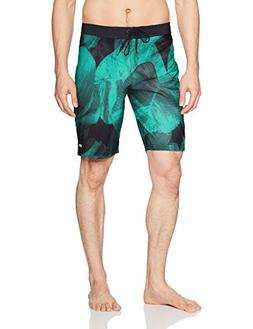 RVCA Men's Digi Leaf Trunk, Light Teal, 32