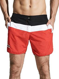 Neleus Men's Dry Fit Swim Trunks Long Athletic Sports Shorts