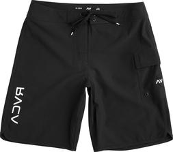 """RVCA Men's Eastern 20"""" Boardshorts, Black, Size 36"""