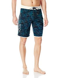 RVCA Men's Eastern Boardshort Trunk, Blue, 34
