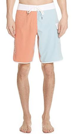 RVCA Men's Eastern Boardshort Trunk, Terracotta, 32