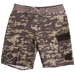 Salty Crew Men's Fisher Camo Utility Trunk, Camouflage, 36