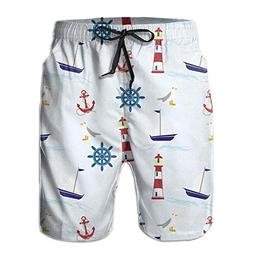Liveupon Men's Fishing Boat Anchor Summer Quick Dry Beach Su