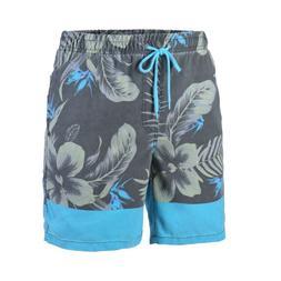 Men's Floral Lined Beach Surf Swimwear Swim Trunks Pocket Bo