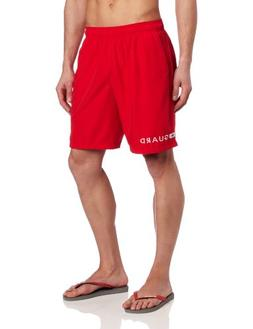 b932371136 Speedo Men's Guard Volley 19 Inch Swim Trunks, Red, Small
