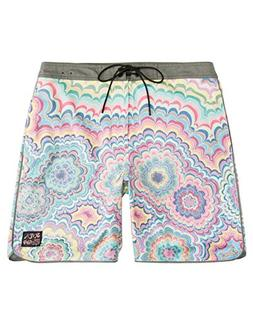 RVCA Men's Kelsey Psych Trunk, Multi, 34