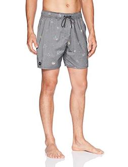RVCA Men's Miles Elastic Trunk, Black, M