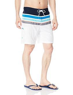 Speedo Men's Nautical Tape E-Board Shorts Workout & Swim Tru