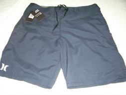 HURLEY Men's Navy Blue OAO Board Surf Shorts Sz 33 ~ Length