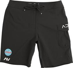 "RVCA Men's Nsla 18"" Boardshort Black 28"