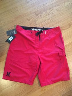 """Hurley Men's One & Only 22"""" Board Shorts Red MBS0002130 Size"""