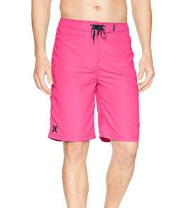 """Hurley Men's One and Only 22"""" Boardshorts Size 31 Waist Neon"""