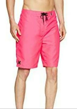 """Hurley Men's One and Only 22"""" Boardshorts Size 36 Waist Neon"""