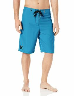 Hurley Men's One and Only 22 Inch Boardshort, Cyan/Hurley, 2
