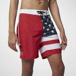 "Hurley Men's Phantom Cheers USA 18"" Boardshorts"