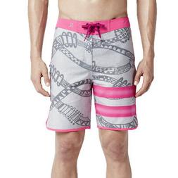 "Hurley Men's Phantom Julian Snapper 19"" Boardshorts - Pink/G"